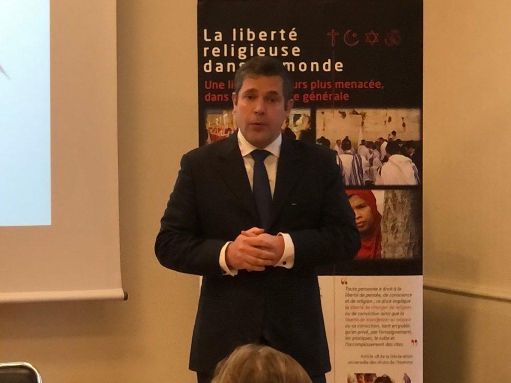 Benoit de Blanpré en conference de presse