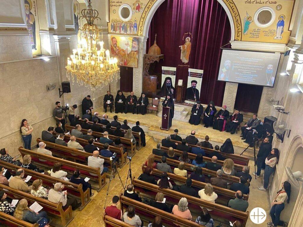 Alep, 22 avril 2021. Commémoration de l'enlèvement de l'évêque syrien orthodoxe Youhanna Ibrahim et de l'évêque grec orthodoxe Boulos Yazji.