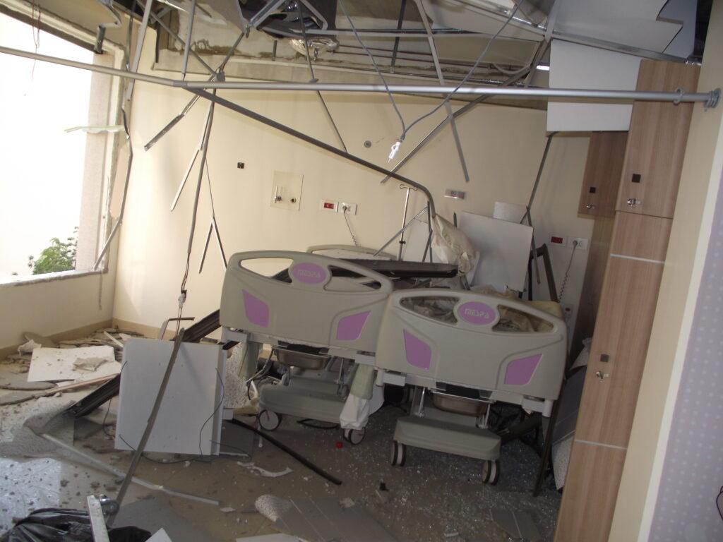 Liban explosion du 4 aout 2020 dommages dans l'hopital Rosary